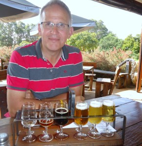 Dad With A Beer Tasting Platter