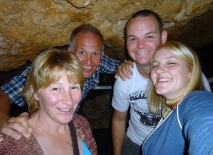 The group of us in 'Cupid's corner' The caves lowest point