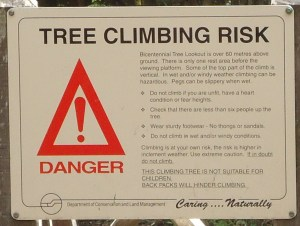 Warnings at the bottom of the tree