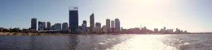 Perth City from the boat