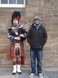 A Piper on The Royal Mile