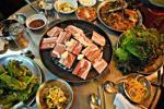 Korean BBQ with loads of side dishes