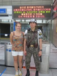 With the guard at Dorasan