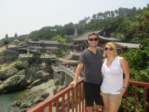 Andy and I at Haedong Yonggungsa Temple