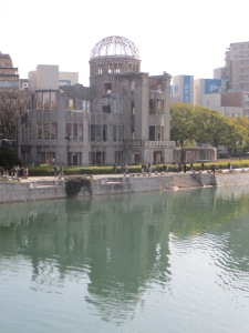 A-Bomb dome overlooking the river