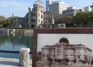 The A-Bomb Dome before and after