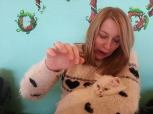 Cat cafe- still not a cat lover!
