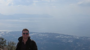 Andy at the top of Mount Vesuvius