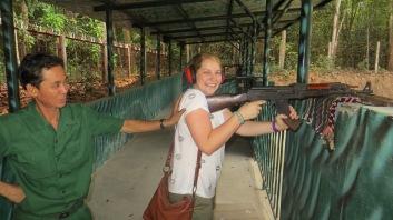 Shooting the AK47