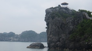 Pagoda at the top of the cliff