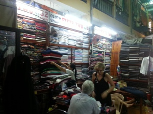 Hoi An clothing market