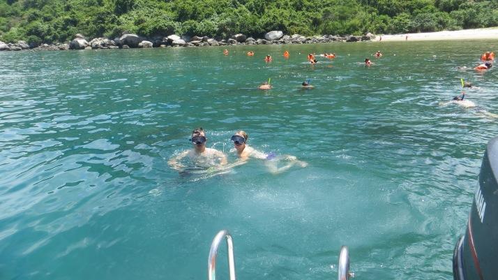 Jennie and I Snorkelling