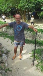 King cobra caught on the beach