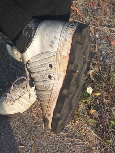 Shoes with tyre treads